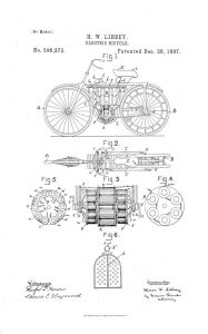 Electric Bicycle patent 1895
